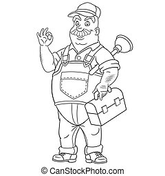 Plumber coloring page | Free Printable Coloring Pages | 195x180