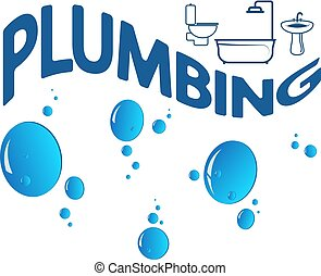 Plumbing abstract symbol