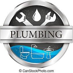 Plumbing and running water vector illustration of repairs...