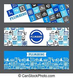Plumbing banners design.