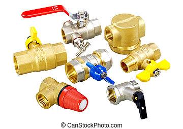 plumbing fixtures, valves, fittings - composition plumbing...
