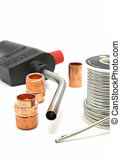 Plumbing gear - Plumbing torch, solder, and some copper pipe...