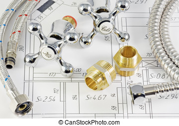 plumbing in terms of flat - different plumbing and metal...