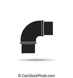 plumbing pipe black icon