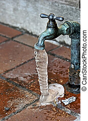 plumbing problems - outside water spigot dripping and froxen...