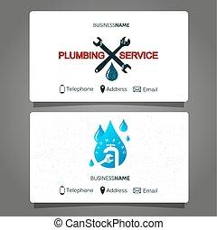 Plumbing repair business card