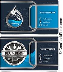Plumbing repair business card concept