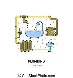 Plumbing repair round concept