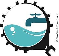 Plumbing repair symbol