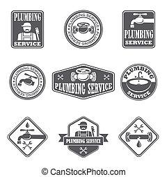 Plumbing service badges