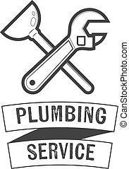 Plumbing service insignia