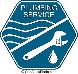 Plumbing service symbol for business