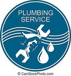 Plumbing service symbol