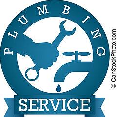 plumbing service vector - symbol plumbing service for vector...