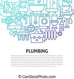 Plumbing Services Line Concept