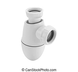 Plumbing siphon isolated on white