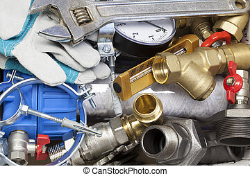 Plumbing - Various plumbing and heating system accessories...