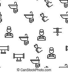 Plumbing Vector Seamless Pattern