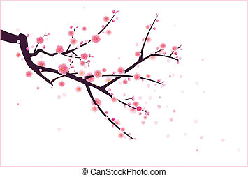 plum/cherry blossom - a plum or cherry blossom tree pattern