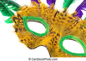 plume, masque