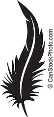plume, silhouette