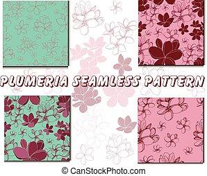 Plumeria flowers patterns