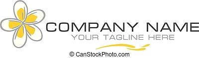 Plumeria. Simple logo for the company