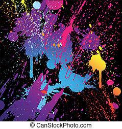 plump, abstrakt, vektor, bakgrund