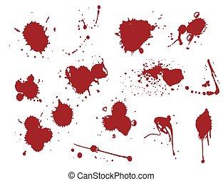 plump, flytande, plaska, fläck, illustration, lappa, vektor, blod, bläck, fläck, splat