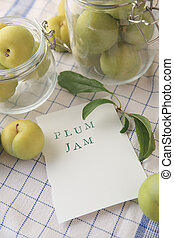 Plums in jars and plum jam words