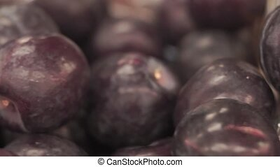 plums on the market