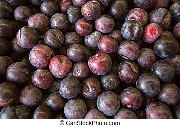 Plums on the market.