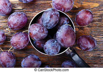 plums on the table