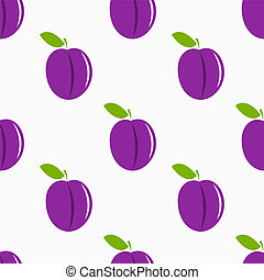 Plums pattern