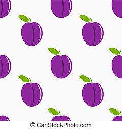 Plums pattern