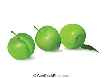 Plums - Three plums