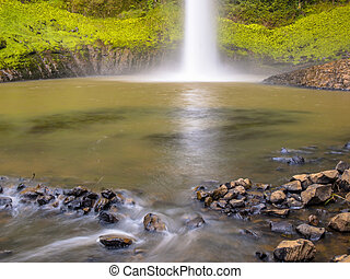 Plunge Pool at the Base of a Waterfall