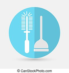 Plunger Vector Illustration on a white background - Plunger...
