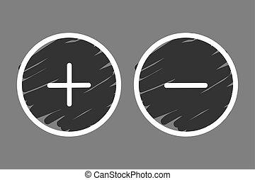 Plus and minus button icon