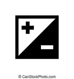 Plus and minus icon. Simple design