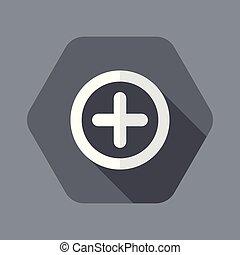 Plus concept flat icon