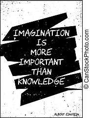 plus, einstein, important, albert, que, imagination, ...