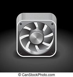 plus frais, icône ordinateur