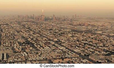 plus grand, impliquer, horizon, uni, emirats, bâtiment, vue, mondiale, aérien, arabe, dubai