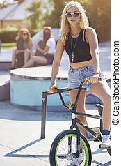 plus grand, mondiale, vélo, passion, mon