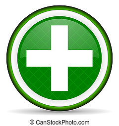 plus green icon cross sign