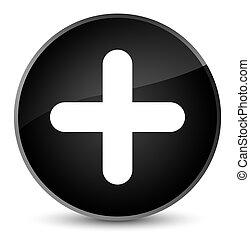 Plus icon elegant black round button