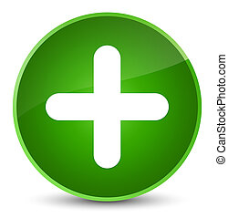 Plus icon elegant green round button