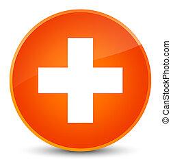 Plus icon elegant orange round button