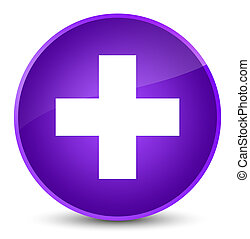 Plus icon elegant purple round button